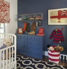 stylish baby boy nursery traditional with window treatments