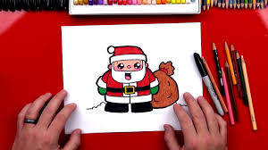 how to draw cartoon santa claus art for kids hub