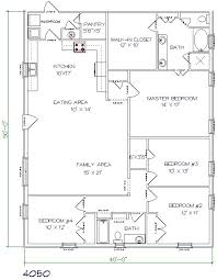 4 Bedroom Floor Plans For A House Best 25 Barndominium Floor Plans Ideas On Pinterest Cabin Floor