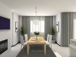 Curtains For Dining Room Accessories Beautiful Dining Room Decoration Using Large Modern