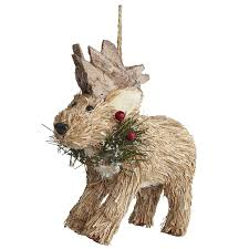 natural moose ornament pier one imports 2013 christmas