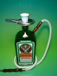 Lamps Made From Bottles Jagermeister Red Hose Hookah Shisha Made From Recycled Liquor