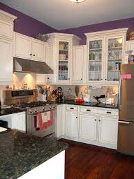Kitchen Interior Decorating Ideas Small Kitchen Decoration Using Solid Red Cherry Wood Kitchen
