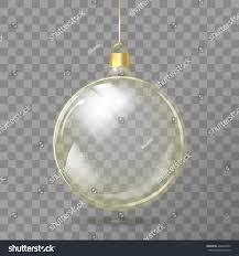template glass transparent christmas ball stocking stock vector
