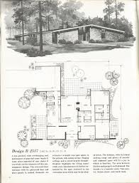 vintage house plans mid century homes 1960s homes plans