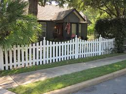 just moseying along white picket fence privacy fences and gardens
