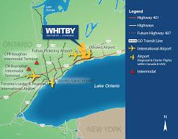 Airport Map Usa by Air Services Whitby Ec Dev