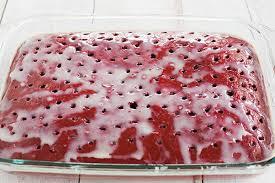 red velvet poke cake brown eyed baker