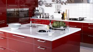superior luxury red glisten paint wooden kitchen island remodeling