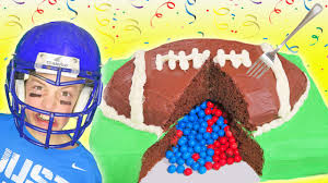 super bowl party surprise football cake 2017 funny doritos