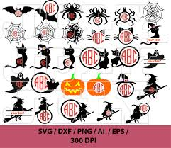 halloween svg free pumpkin silhouette clipart witch face collection