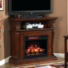 portable electric fireplace heater walmart convertible media brown