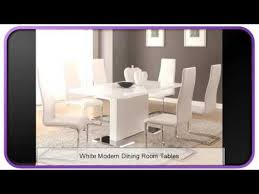 White Modern Dining Room Tables YouTube - White modern dining room sets