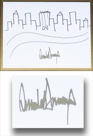auction to sell president trump u0027s rare autographed sketch