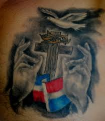dominican flag tattoo by the red parlour tattoo tattoos tattoo