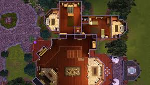 mod the sims lincoln s log mansion advertisement