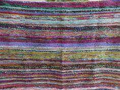 hand loom chindi carpet rag rug floor yoga mat indian eco beach