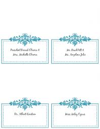 card place card template