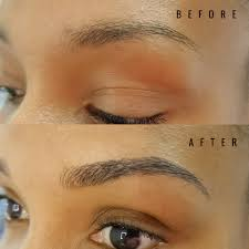 Permanent Makeup Eyebrows Hair Stroke Before And After Pictures Pure Radiance Advanced Skin Care