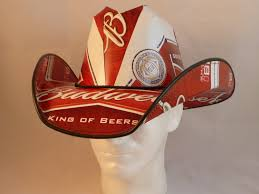 budweiser beer cake beer box cowboy hats made from recycled budweiser beer boxes