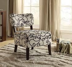 Orson Chair Homelegance Orson Accent Chair Black Swirl Fabric 1191f2s