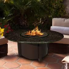 Propane Fire Pit Glass California Outdoor Furniture
