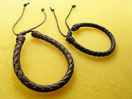 make leather woven bracelet images 15pcs lot adjustable black faux leather braided wristband jpg