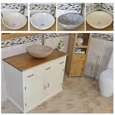 Stone Basin Vanity Unit Bathroom Vanity Unit Off White Cream Cabinet Wash Stand U0026 Stone
