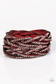 red wrap bracelet images Paparazzi accessories musing maverick red jpg