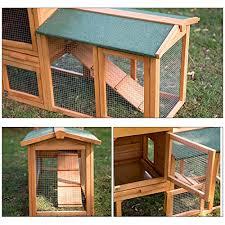 Rabbit Hutch Wood 58 U2033 Rabbit Hutch Chicken Coop Wooden Bunny Animal Hen Cage