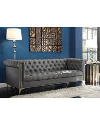 modern tufted leather sofa memorial day sales on iconic home winston modern tufted gold