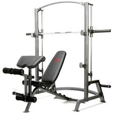 Home Gym Weight Bench Buy Marcy Sm 1050 Home Gym Smith Machine U0026 Weight Bench 600lbs