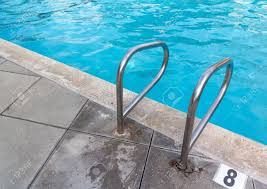 Swimming Pool Handrails Swimming Pool Handrail At Deep End Steel Grab Bars For Safety With