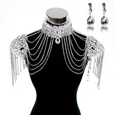 lace accessories fashion bridal chain accessories rhinestone shoulder lace