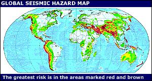 earthquake hazard map bbc news sci tech quake hazard map released