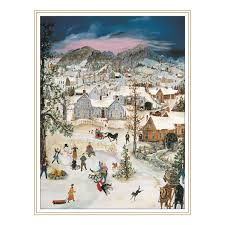will moses snowflake cards collection box of 24 cards
