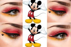mouse makeup halloween mickey mouse inspired eye makeup youtube