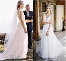 blush pink rustic wedding dresses dreamlike deep v neck backless
