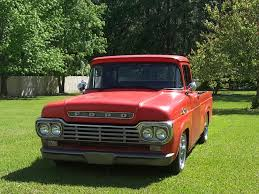 1959 F150 Test Sig And Pics Red 59 F100 Shortbed Ford Restomod Ratrod Ford