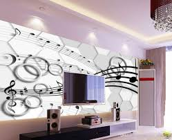 classic home decor 3d stereo three dimensional note circle tv wall