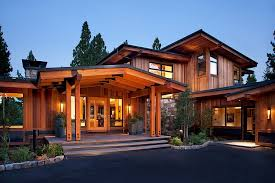 Craftsman Home Design Elements Entrance With Lots Of Protection From Elements Mountain Home By