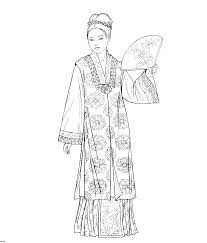 colouring pages national costumes national dress costumes