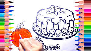 cake painting pages toddlers learning color pictures