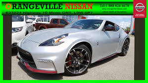 nissan 370z nismo for sale new 2018 nissan 370z silver for sale stock n9548 in orangeville
