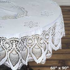 oval tablecloth ebay
