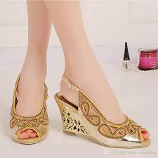 wedding shoes brisbane 3 inches wedge heel summer sandals peep toe rhinestone wedding