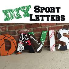 themed letters sport themed wooden letters 4 steps with pictures