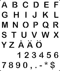 fixed the alphabet stencil se