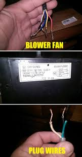 electrical can i wire a microwave blower fan to a plug by itself