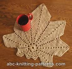 Leaf Table Runner Abc Knitting Patterns Chestnut Leaf Table Runner And Placemats